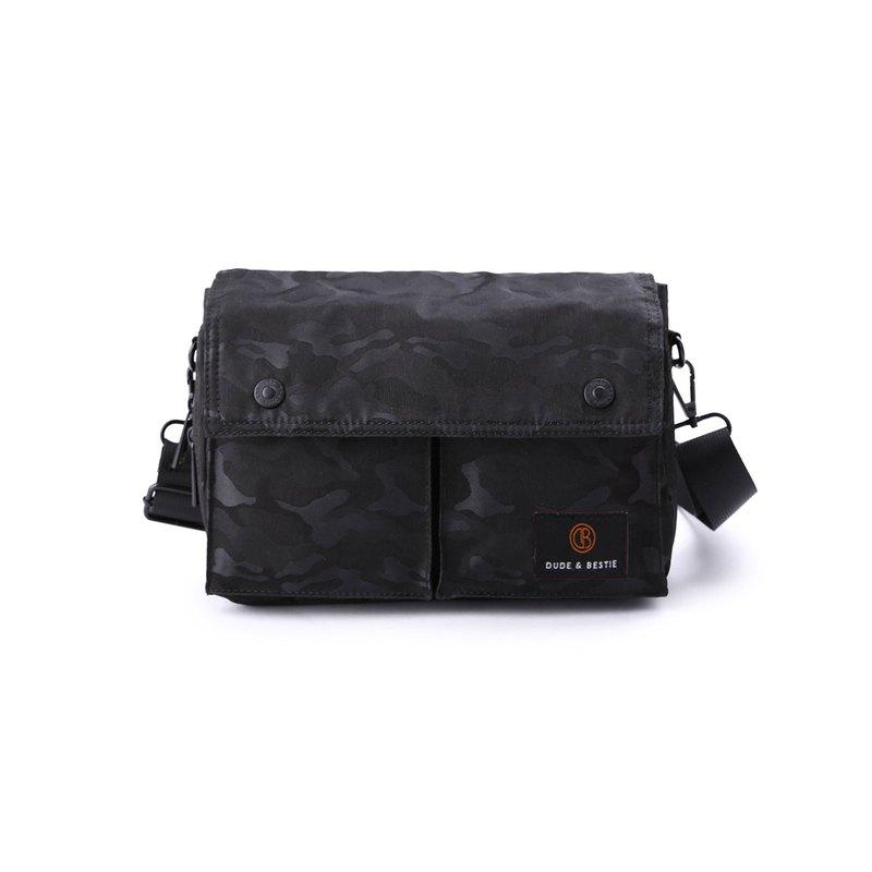 多用途小包 斜背包 單車包 旅行包 腰包 Wander - 迷彩黑色