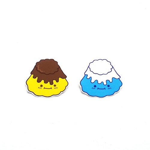 1212 fun design funny everywhere stickers waterproof stickers - egg pudding & Fuji mountain pudding