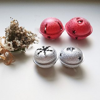 Accessories / matte 40mm red, silver big bell 1 -18MM / 15MM silver bell / a group of 10