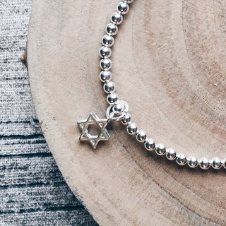 925 sterling silver six-pointed star bracelet