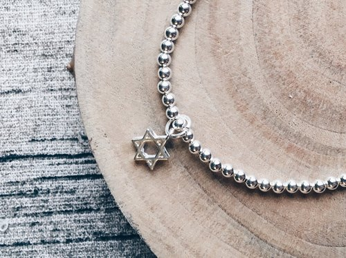 925 sterling silver bracelets hexagram
