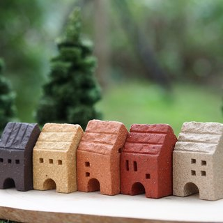 [Small] Simple Village village small house handmade ceramic / piece mini -5 / group (four Jie window can be any combination)