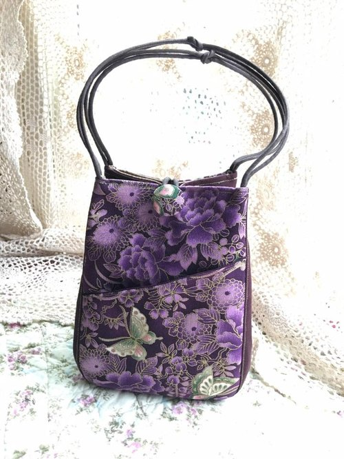 (Classical purple butterfly) handbag