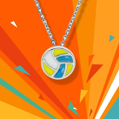 WING Jewelry wing necklace | sports series - volleyball necklace l 8AA00511