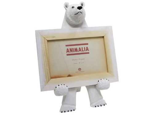 SUSS- Japan Magnets cute animal shaped handmade wood frame / mobile phone holder (polar bear) - Stock Free transport