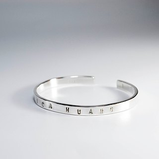 zo.craft customized typing along bracelet female / 925 Silver