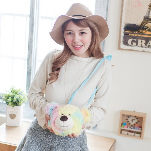 CANDY BEAR ♥ Cotton Candy Bear Shoulder Bag