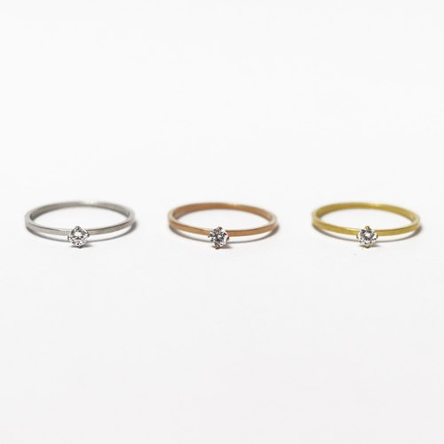 Pamycarie Crystal Copper Rings - Silver/Rosegold/Gold