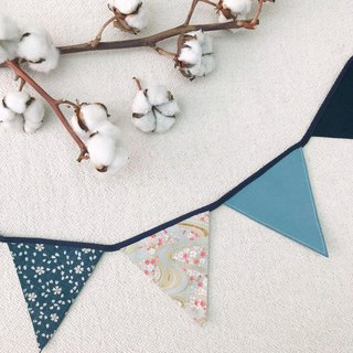 Blue cherry pennants home decoration