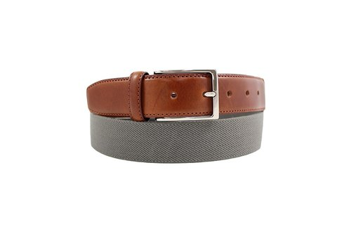 LAPELI │ Belgian elastic fabric belt - plain gray