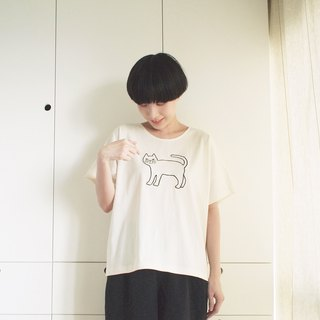 krajok cat t-shirt : natural
