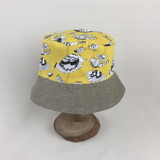 Va handmade fisherman hat, yellowish bird