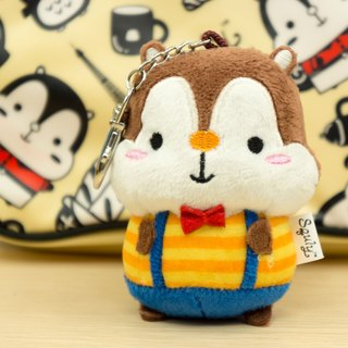 Cute Squirrel Squly Soft Plush Keychain F002SQT