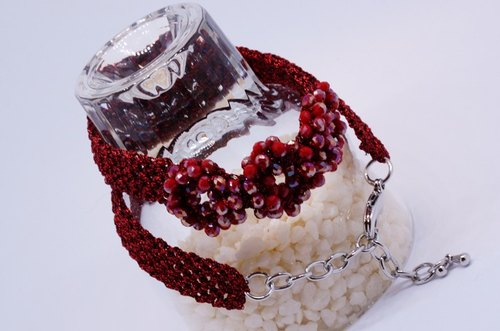 Crochet said this wire short neck and chain (choker necklace)