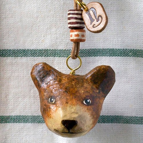 Bear pendant necklace / animal item 錬