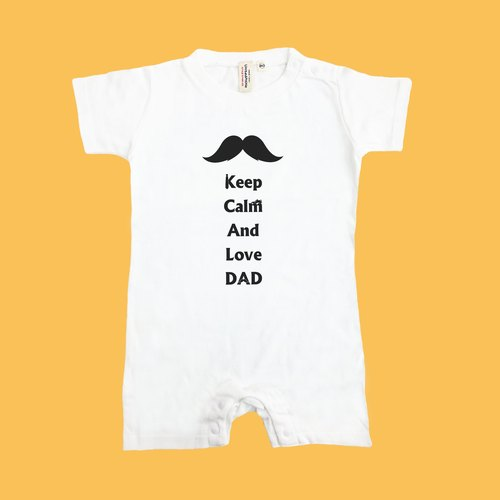 [Father's Day gift] Keep Calm baby love dad Japan United Athle cotton short-sleeved package fart clothes feeling soft