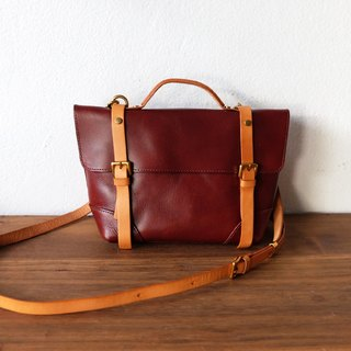 Small Satchel Burgundy Brown Shoulder Bag