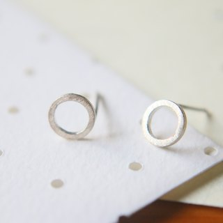 Silver earring 0960(circles)