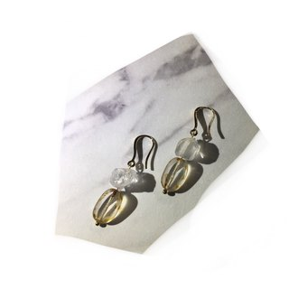 MF's Stone Earring- crystal clear