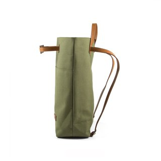 || Stretched canvas backpack || Army Green