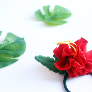 3ways hibiscus accessory,Ponytail Holder(r),hair bow,hair accessory,ukulele,uke