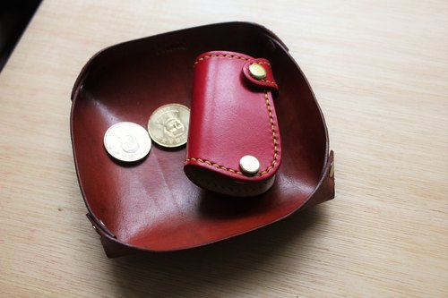 [Square] Mini5 leather storage tray (Brown)