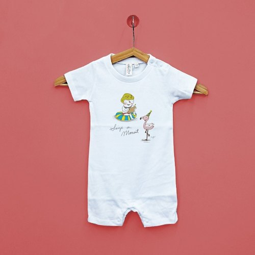 Seize the moment Family fitted baby Japan United Athle cotton short-sleeved package fart clothes feeling soft