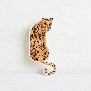 Leopard small badge / pin I Forest Daily