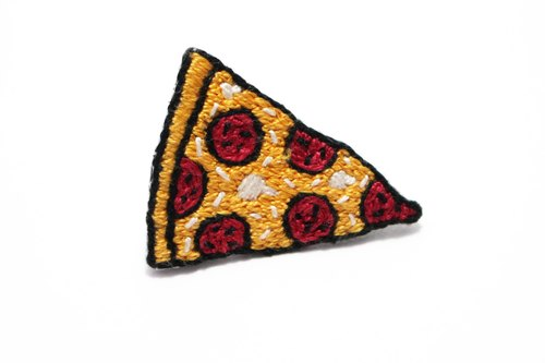 Embroidered PIZZA pins