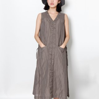 And - Meteor - striped v neck sleeveless dress