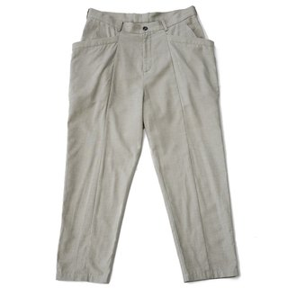 Ankle-length Large Pocket Trousers