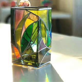 Glass Vase Rectangle  Tinker Bell Forest