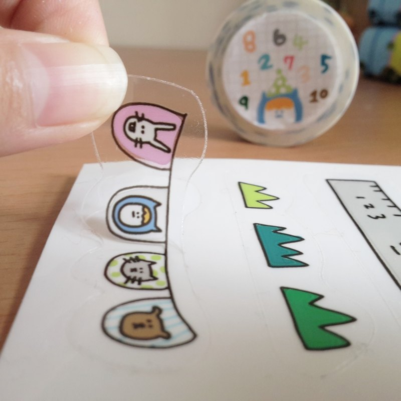 Ning's transparent stickers