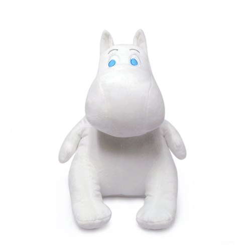 Moomin authorization [Lulu Mimu Ming 36CM fuzzy doll genuine authorized] healing doll super soft short fiber material being straight A good -CARDAMOM card