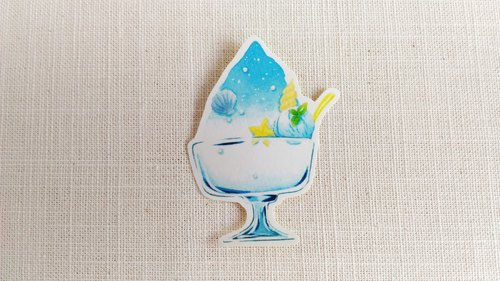 Hawaiian shaved ice blue sticker