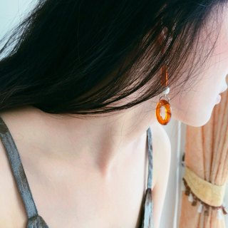 Marygo ﹝ Belle Epoque Vintage Stereo Series - amber earrings Dai cap ﹞