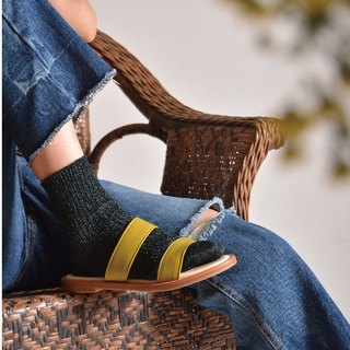 Leather Sandals | mustard