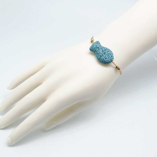 Blue Fish Lava Diffuser Bracelet Gold plated Copper Chain with Extend Chain