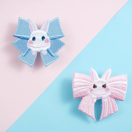 Embroidery Hairpin * Bowknot Rabbit