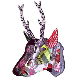 Italy MIHO wooden deer head high quality home decoration / wall decoration - medium size (Capri-3) spot