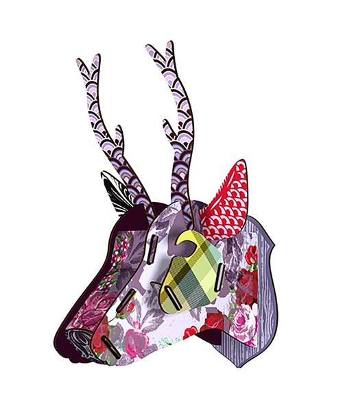 SUSS-Italy MIHO Wooden deer head high quality home accessories / wall decoration - in size (Capri-3) - suitable for new home / decoration / gift / birthday - stock free