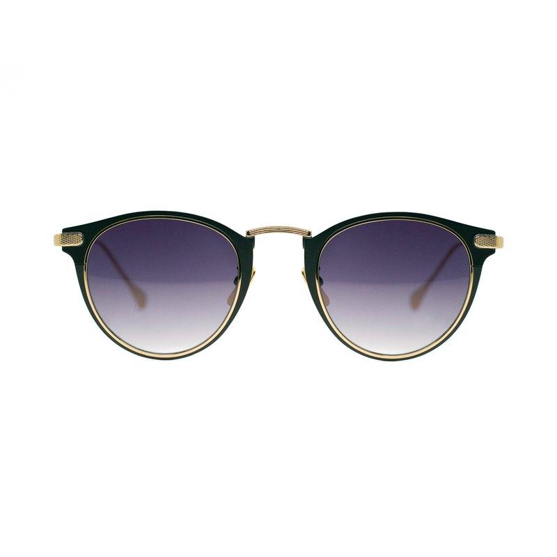 經典波士頓框內嵌金屬飾圈UV400墨鏡-古典金∣禮物| 夏裝