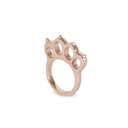 Bibi Fun Picks series - refers to Ocelot down - rose gold / silver tail ring (mailed free transport)