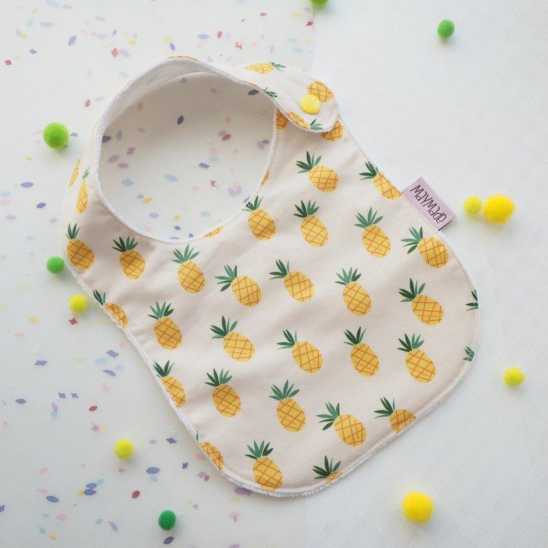 菠蘿 口水肩 圍兜禮盒套裝 彌月禮物