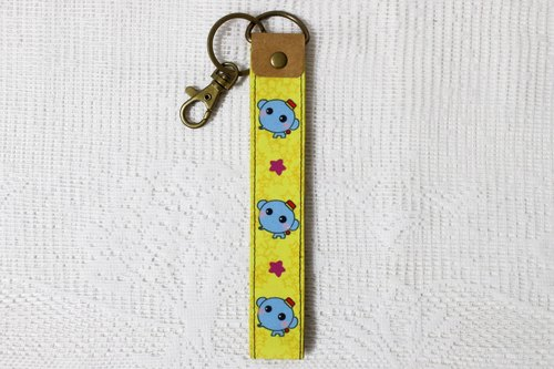 Play not tired _ washed leather key ring / ornaments (Yuan Zai like)