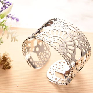 Thin steel adjustable bracelet - painted series Mucha bracelet (silver) Magi-Steel thin steel jewelry
