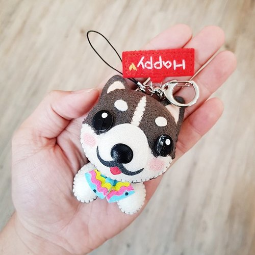 [Skilled] cat cat x city Ranger pure hand-stitched custom name puppets hanging ornament / key ring graduation gift birthday gift