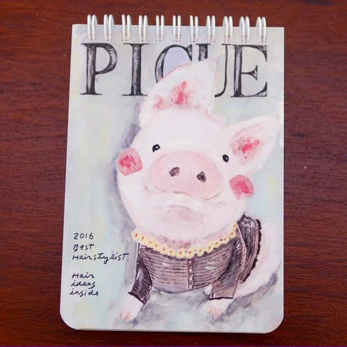 My funky painting of the white pig
