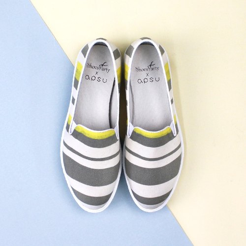 Shoes Party Zebra has three heavy-bottomed shoes / handmade custom / Japan fabric