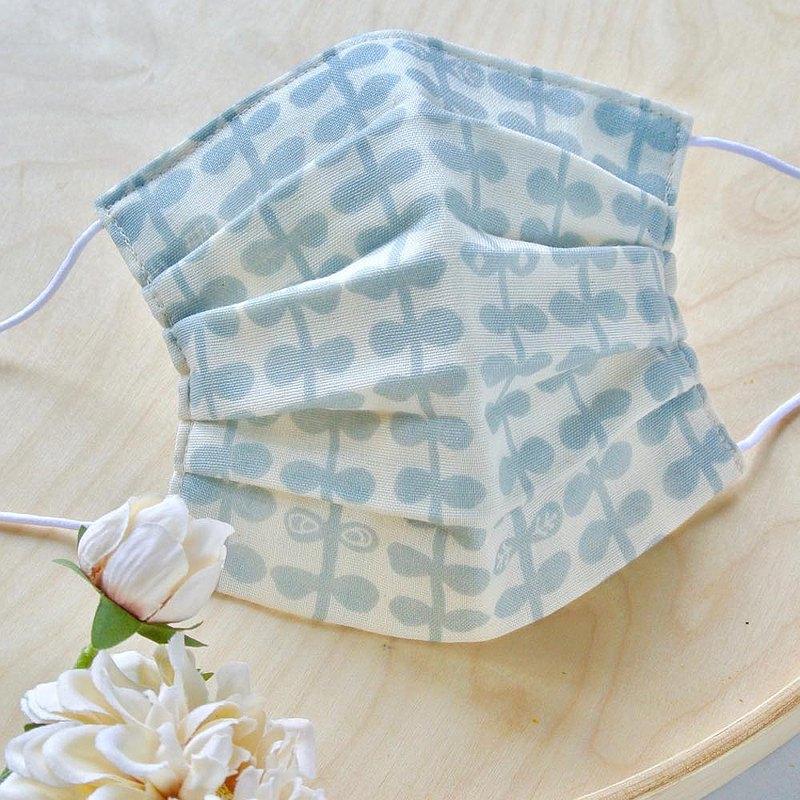 抗菌跟防臭加工 手工立體口罩 可洗滌 日本製純棉 北欧 灰色 成人